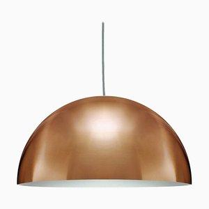 Lampe à Suspension Sonora Large Dorée par Vico Magistretti pour Oluce