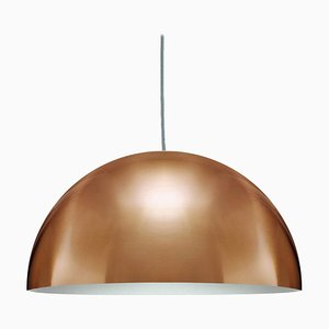 Suspension Lamp Sonora Large Gold by Vico Magistretti for Oluce
