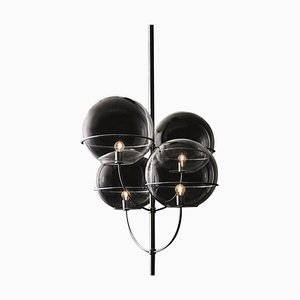 Suspension Lamp Lyndon Chromium-Plated by Vico Magistretti for Oluce