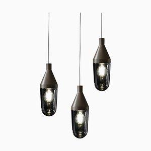 Lámparas de suspensión Niwa en beige y gris de Christophe Pillet para Oluce
