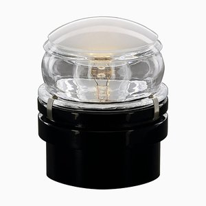 Inside and Outside Wall and Ceiling Lamp Fresnel Black by Joe Colombo for Oluce