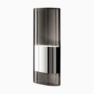 Lámpara de pared Line mediana de aluminio y vidrio Pyrex de Francesco Rota para Oluce