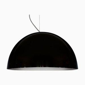 Lampe à Suspension Sonora 490 Noire par Vico Magistretti pour Oluce