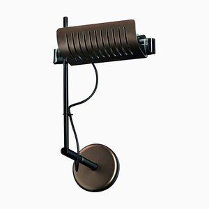 Lámpara de pared Colombo de bronce anódico de Joe Colombo para Oluce
