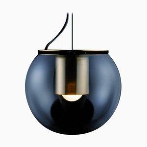 Lampada a sospensione the Globe grande color oro di Joe Colombo per Oluce