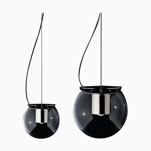 Suspension Lamps the Globe Nickel by Joe Colombo for Oluce, Set of 2