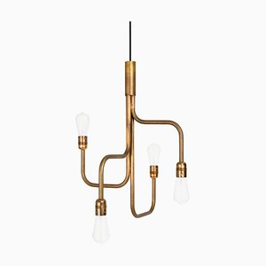 Strapatz Ceiling Small Raw Brass by Sabina Grubbeson for Konsthantverk Tyringe