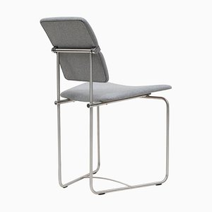 Chair Urban Jodie S02 Stainless Steel Matt / Grey Fabric by Peter Ghyczy