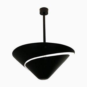 Schwarze Kleine Snail Deckenlampe von Serge Mouille