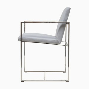 Armchair Urban Maia S06+ Stainless Steel Gloss / Grey Fabric by Peter Ghyczy