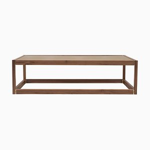Coffee Table Embassy Kirk T83 Walnut / Tinted Bronze by Peter Ghyczy