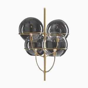 Lámpara de suspensión Lyndon Satin Gold de Vico Magistretti para Oluce
