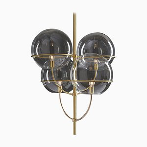 Suspension Lamp Lyndon Satin Gold by Vico Magistretti for Oluce