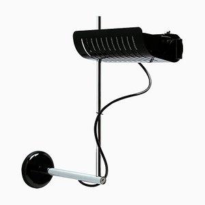 Colombo Black Wall Lamp by Joe Colombo for Oluce
