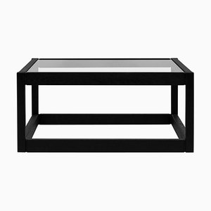 Embassy Kirk T83 Oak 2448 Clear Glass Coffee Table by Peter Ghyczy