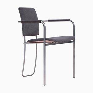 Urban Faye S02+ Steel Armchair with Dark Grey Fabric by Peter Ghyczy