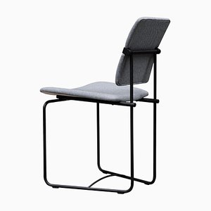 Urban Jodie S02 Charcoal and Gray Fabric Side Chair by Peter Ghyczy