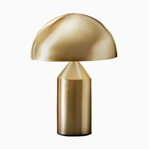 Small Metal Satin & Gold Atollo Table Lamp by Vico Magistretti for Oluce