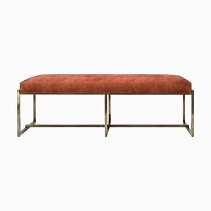 Bench Urban Grace Gb03 Brass Aged / Orange Fabric by Peter Ghyczy