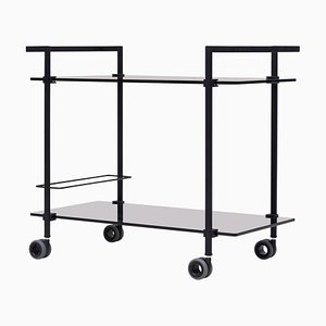 Tea Trolley Pioneer T63s Charcoal / Tinted Glass by Peter Ghyczy