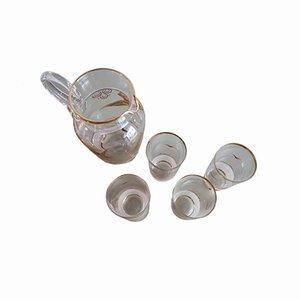 Juego de servicio italiano vintage de vidrio