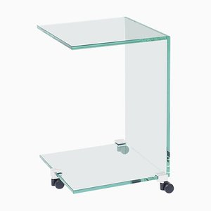Side Table Pioneer Tc Aluminium / Clear Glass by Peter Ghyczy