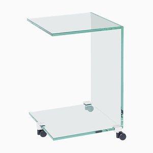 Table d'Appoint Pioneer Tc en Aluminium / Verre Transparent par Peter Ghyczy