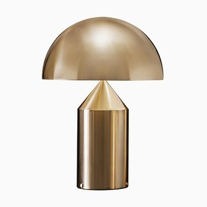 Atollo Large Metal Satin Gold Table Lamp by for Oluce