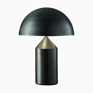 Lampe de Bureau Atollo Medium en Métal et Bronze Satiné par pour Oluce