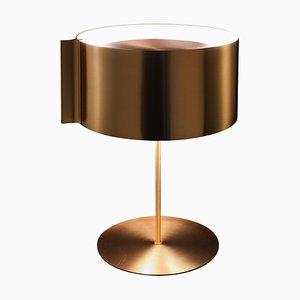Lampada da tavolo Switch color oro satinato di Nendo per Oluce