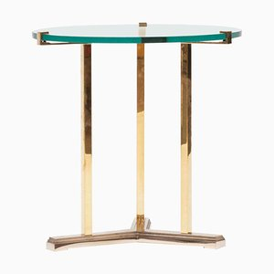 Side Table Pivot T82 Brass or Clear Glass by Peter Ghyczy