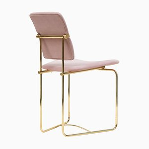 Chair Urban S02 Brass Gloss / Pink Fabric by Peter Ghyczy