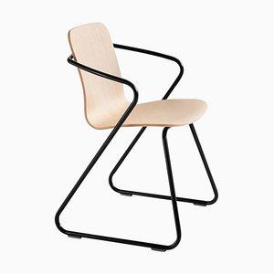 Sillas esculturales Cobra de madera y metal de Adolfo Abejon para Design M. Juego de 4