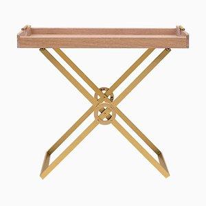 Table Safari T65 Messing matt / Eiche matt von Peter Ghyczy
