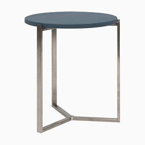 Table d'Appoint Pivot T82 en Acier ou en Cuir par Peter Ghyczy