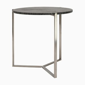 Side Table Pivot T82 Steel / Granite by Peter Ghyczy