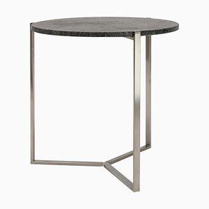 Table d'Appoint Pivot T82 Acier / Granite par Peter Ghyczy