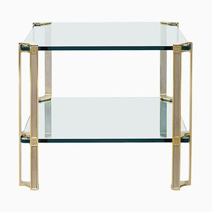 Table Pioneer T24d Brass Matt / Clear Glass by Peter Ghyczy