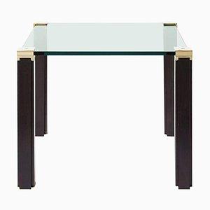 Tisch Pioneer T66 Aluminium / Eiche / Glas von Peter Ghyczy