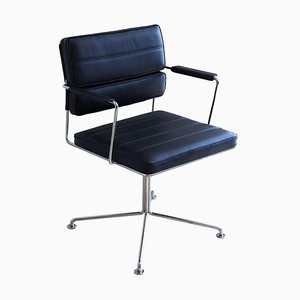 Ht 2012 Black Leather Time Chair by Henrik Tengler for One Collection