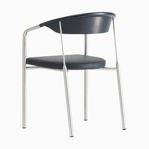 Ht 6101 Chair aus schwarzem Leder von Henrik Tengler für One Collection