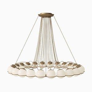 Lampe Modell 2109/24/14 Champagne Structure von Gino Sarfatti