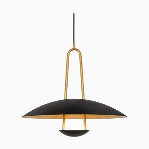 Satellite 55 Brass Black Ceiling Lamp by Johan Carpner for Konsthantverk