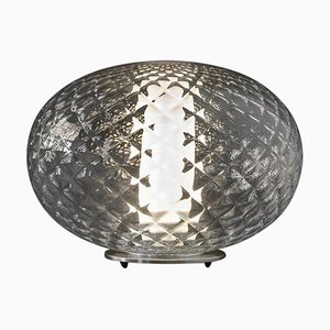 Soto Table Lamp in Recuerdo Textured Blown-Glass by Mariana Pellegrino fo Oluce