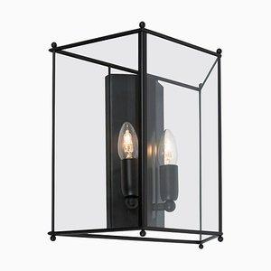 Lámpara de pared Glimminge grande en negro de Konsthantverk