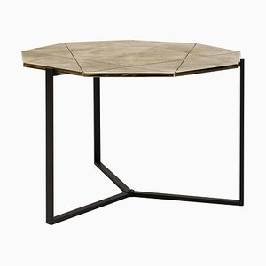Pivot T82 Limited Edition Ristretto & Brass Side Table by Peter Ghyczy