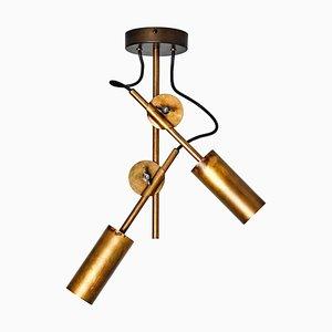 Stav Spot 2 Raw Brass Ceiling Lamp by Johan Carpner for Konsthantverk
