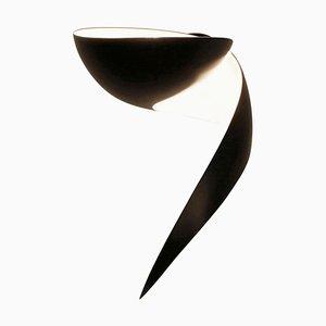 Lampada da parete Flame nera di Serge Mouille