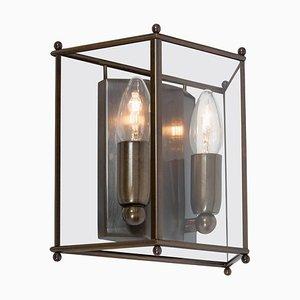 Kleine Glimminge Wandlampe aus oxidiertem Messing von Konsthantverk