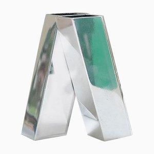 Vase in Aluminium Glanz von Peter Ghyczy